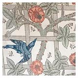 William Morris wallpaper at Standen House