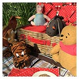 A teddy bear's picnic in the woods