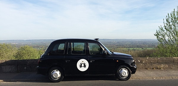 The Potted History Tours vehicle is a retired London Taxi LTI TX1